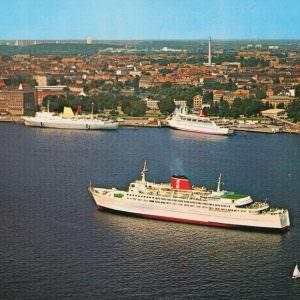 2 Stena ferries in Kiel in the 70ies