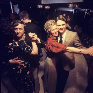 The dance floor onboard in the 70ies