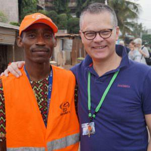 Niclas Mårtensson visiting Mercy Ships in Benin