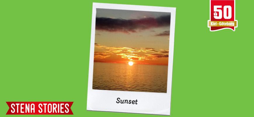 Sunset at sea - Stena Stories