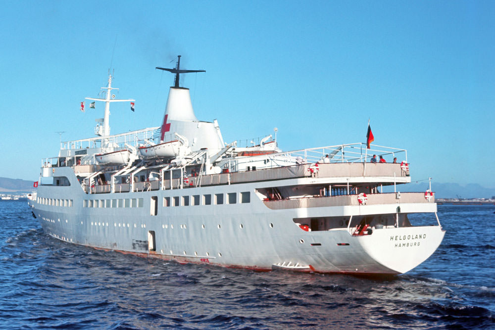 HELGOLAND as hospital ship in 1972