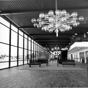 The interior of the new Stena Line Terminal in Gothenburg May 1972