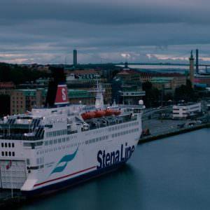 Stena Danica by the Denmark terminal in Gothenburg