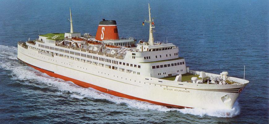 Stena Atlantica 1972 outside Kiel